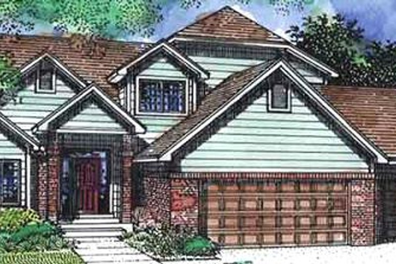 Traditional Exterior - Front Elevation Plan #320-392 - Houseplans.com