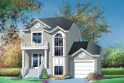 European Style House Plan - 2 Beds 1 Baths 1348 Sq/Ft Plan #25-4845 Exterior - Front Elevation