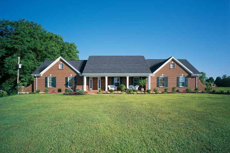 Country Exterior - Front Elevation Plan #46-622