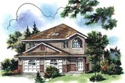 Traditional Style House Plan - 3 Beds 2 Baths 1434 Sq/Ft Plan #18-9307 Exterior - Front Elevation