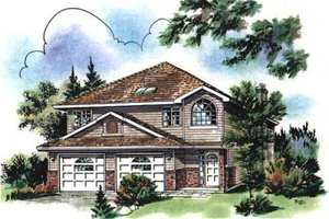 Traditional Exterior - Front Elevation Plan #18-9307