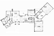 Contemporary Floor Plan - Main Floor Plan Plan #928-255