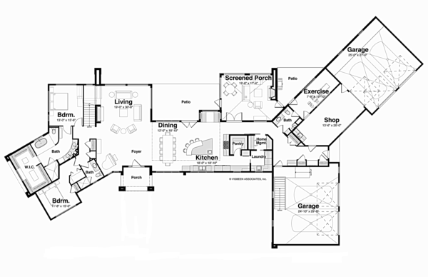 Contemporary Floor Plan - Main Floor Plan Plan #928-255