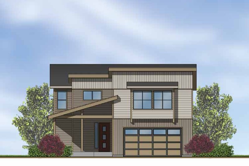 Home Plan - Contemporary Exterior - Front Elevation Plan #569-15