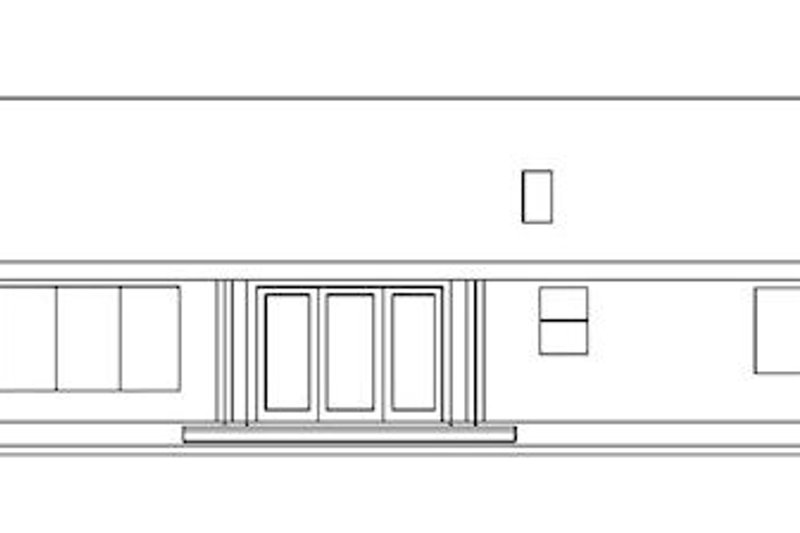 Ranch Exterior - Rear Elevation Plan #60-144 - Houseplans.com