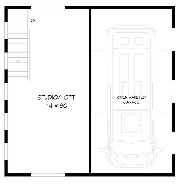 Contemporary Floor Plan - Upper Floor Plan Plan #932-90