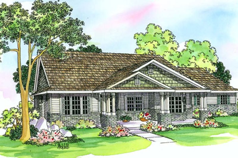Craftsman Exterior - Front Elevation Plan #124-387