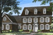 Colonial Style House Plan - 4 Beds 4 Baths 3664 Sq/Ft Plan #137-155