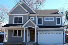 Architectural House Design - Craftsman Exterior - Front Elevation Plan #1057-14