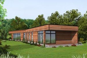 Dream House Plan - Modern Exterior - Front Elevation Plan #117-913