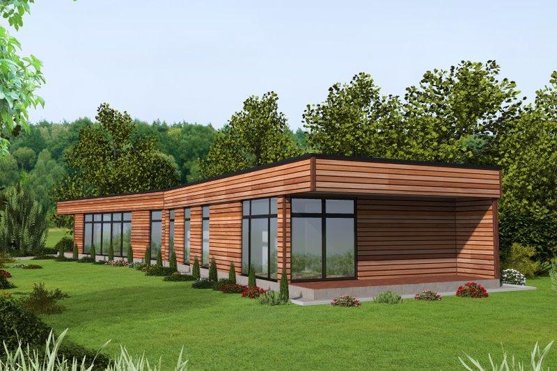 Architectural House Design - Modern Exterior - Front Elevation Plan #117-913