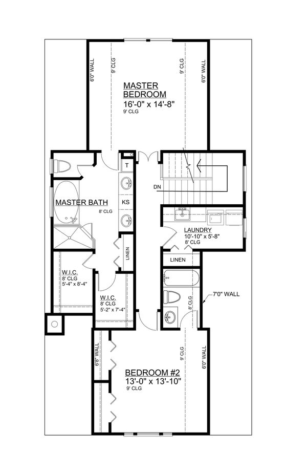 Bungalow Floor Plan - Upper Floor Plan Plan #30-338
