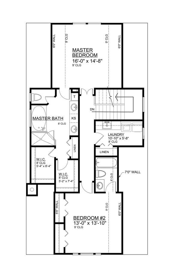 Architectural House Design - Bungalow Floor Plan - Upper Floor Plan #30-338