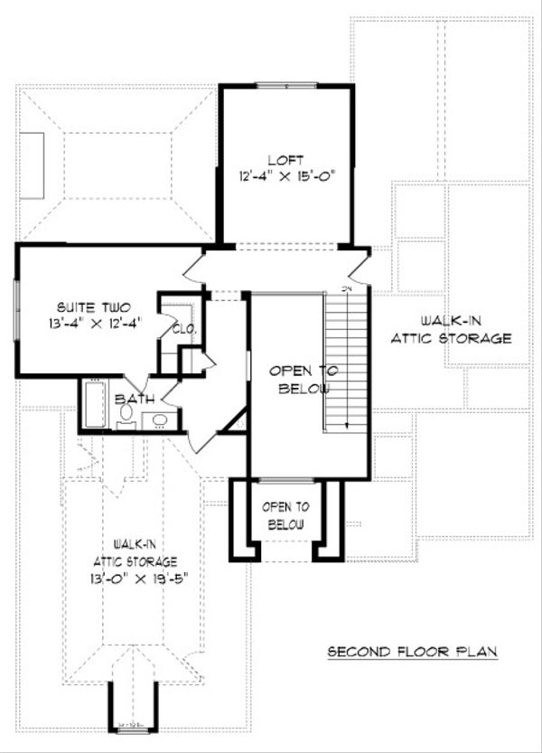 European Floor Plan - Upper Floor Plan Plan #413-874