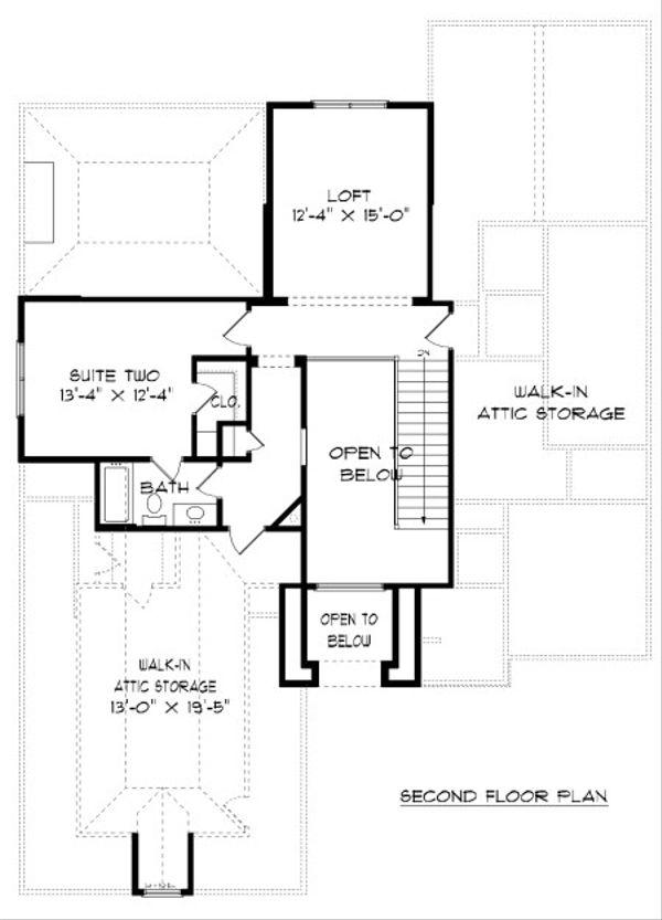 European Floor Plan - Upper Floor Plan Plan #413-874