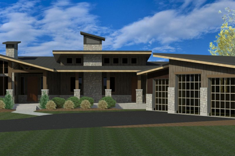 Exterior - Front Elevation Plan #920-16