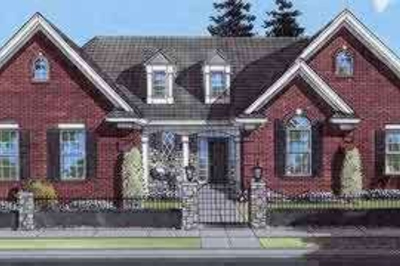 Southern Exterior - Front Elevation Plan #46-138