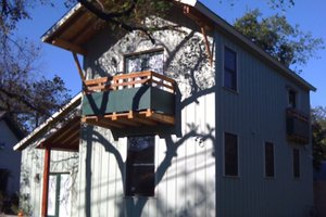 Cottage Exterior - Front Elevation Plan #450-1