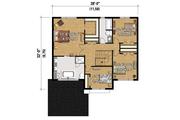 Contemporary Style House Plan - 4 Beds 2 Baths 2144 Sq/Ft Plan #25-4348 Floor Plan - Upper Floor Plan