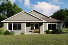 Dream House Plan - Cottage Exterior - Rear Elevation Plan #1064-104