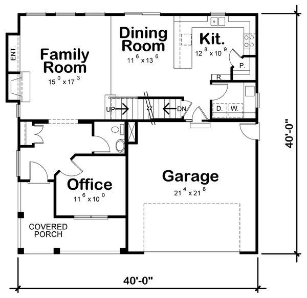 Bungalow Floor Plan - Main Floor Plan #20-1846