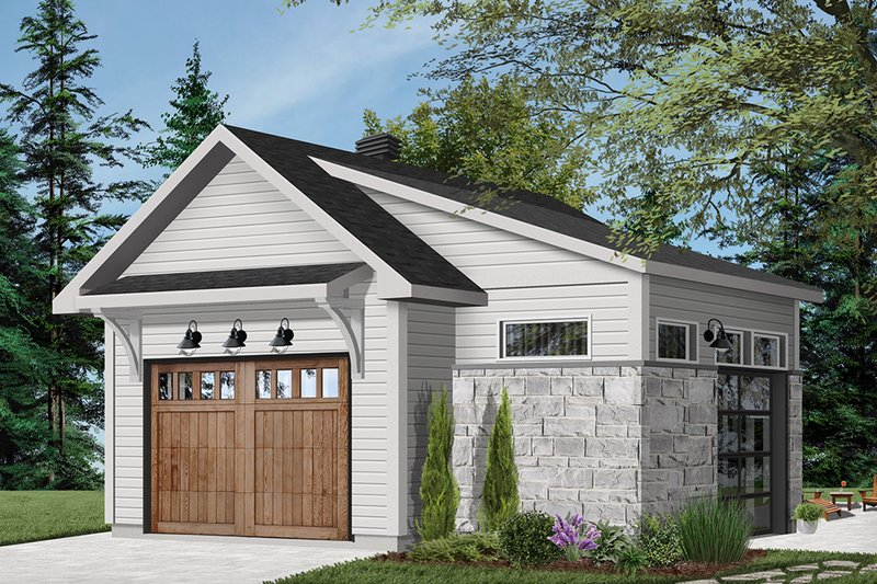 Home Plan Design - Craftsman Exterior - Front Elevation Plan #23-2717