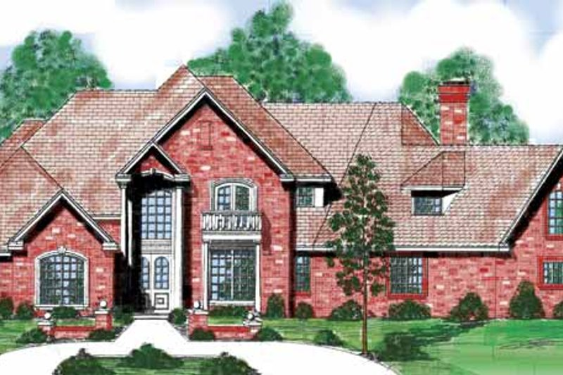 House Plan Design - Traditional Exterior - Front Elevation Plan #52-241