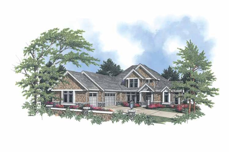 Craftsman Exterior - Front Elevation Plan #48-751