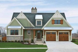 Craftsman Exterior - Front Elevation Plan #928-230