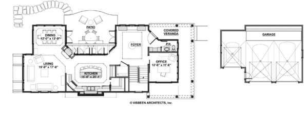 Craftsman Floor Plan - Main Floor Plan #928-272