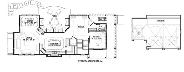 Home Plan - Craftsman Floor Plan - Main Floor Plan #928-272