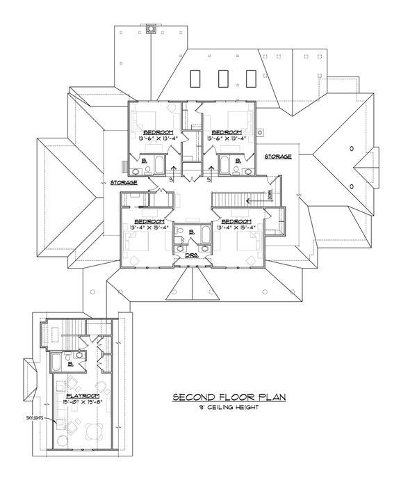 Country Floor Plan - Upper Floor Plan #1054-95