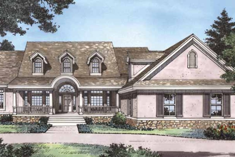 Country Exterior - Front Elevation Plan #417-788