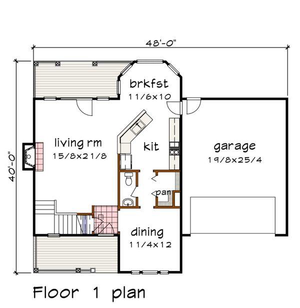 Country Floor Plan - Main Floor Plan #79-258
