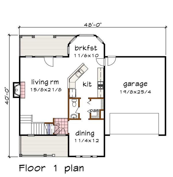 Dream House Plan - Country Floor Plan - Main Floor Plan #79-258