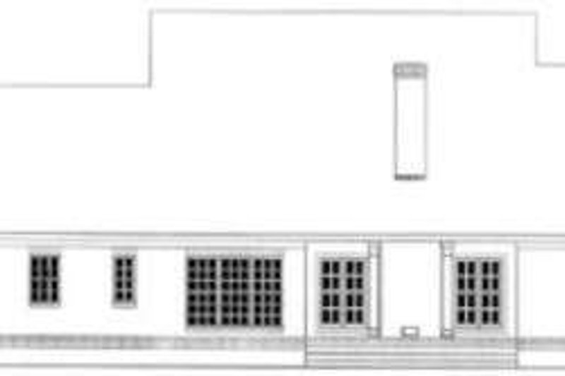 Southern Exterior - Rear Elevation Plan #406-255 - Houseplans.com
