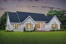 Farmhouse Exterior - Rear Elevation Plan #48-981