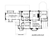 Tudor Style House Plan - 4 Beds 4 Baths 4934 Sq/Ft Plan #413-124 Floor Plan - Upper Floor Plan