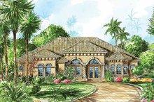 Architectural House Design - Mediterranean Exterior - Front Elevation Plan #1017-21