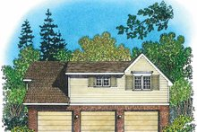 Colonial Exterior - Rear Elevation Plan #1016-87