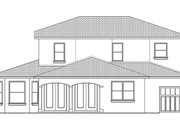 Mediterranean Style House Plan - 4 Beds 3 Baths 2776 Sq/Ft Plan #1058-131 Exterior - Rear Elevation