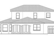 Mediterranean Style House Plan - 4 Beds 3 Baths 2776 Sq/Ft Plan #1058-131 Exterior - Rear Elevation