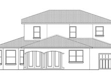 Architectural House Design - Mediterranean Exterior - Rear Elevation Plan #1058-131