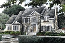 Home Plan - European Exterior - Front Elevation Plan #429-17