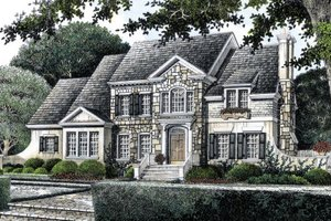 European Exterior - Front Elevation Plan #429-17