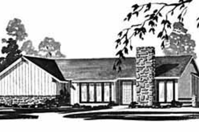 House Design - Ranch Exterior - Front Elevation Plan #36-371