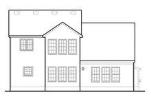 Colonial Exterior - Rear Elevation Plan #1053-67