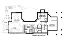 Craftsman Floor Plan - Lower Floor Plan Plan #928-272