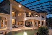 Mediterranean Style House Plan - 4 Beds 5 Baths 5162 Sq/Ft Plan #930-317 Exterior - Rear Elevation