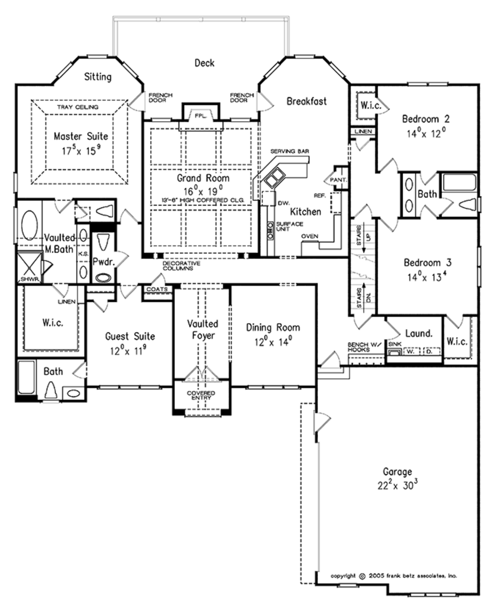 Traditional Style House Plan 4 Beds 3 5 Baths 2700 Sq Ft